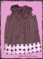 Dumb with Retro Dots Pillowecase Dress